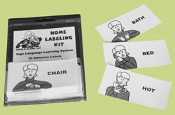 photo of wholesale sign language labels
