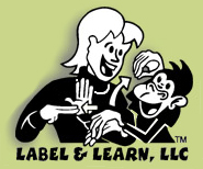 label and learn: sign langauge logo
